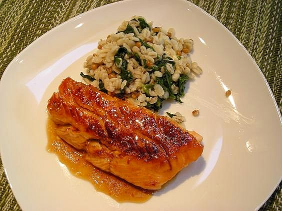 maple glazed salmon 004